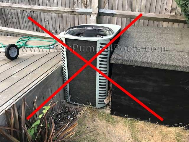 insufficient heat pump clearance pic1