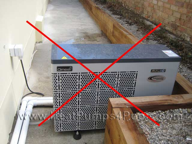 insufficient heat pump clearance