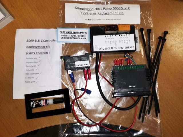 Competition pool heat pump Replacement Digital Display Panel