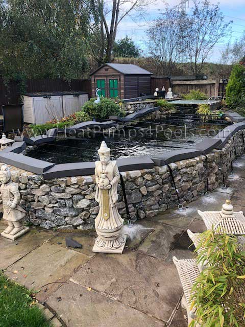 Solarweave Pond Cover for a koi pond