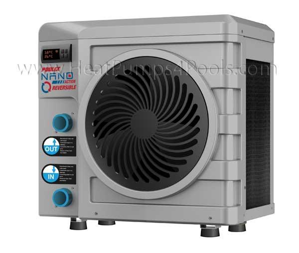 nano reversible heat pump extended season pools